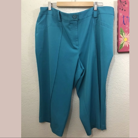 155cd74d738 Cato Pants - Cato Women s Teal Cropped Plus Size Pant Size 22W
